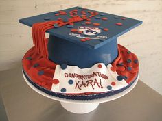 Mortar Board Graduation Cake