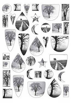 Nunn Design Black & White Trees Collage Sheet