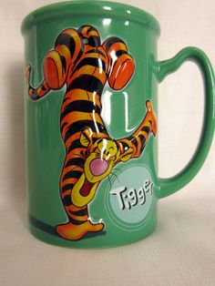 Disney Tigger Coffee Mug Tiggerific 16 oz Green Large Cup Store | eBay