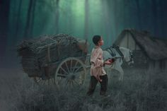 A farmer boy in the forest Dramatic color effects Color Effect, Photo Manipulation, Farmer, Colour Effect, Farmers, Ps