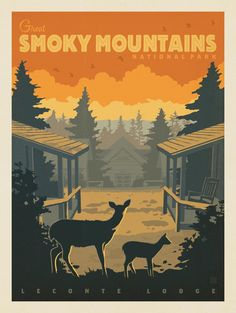 Anderson Design Group – American National Parks – Great Smoky Mountains National Park: LeConte Lodge