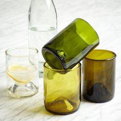 WEST ELM  Recycled Wine Punt Glassware - 355ml