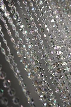 """71"""" tall Crystal Curtain  with 34  garlands $19"""