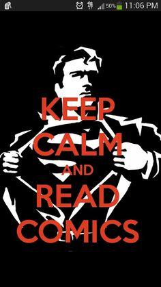 Keep calm and read comic