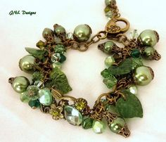 Many Shades of Green Adjustable Handmade by TreasuresofJewels