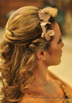 Madrinhas de casamento: Penteado para noivas, formandas, madrinhas e 15 anos!