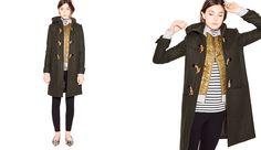 J.Crew Looks We Love October 2014, Leopard Flats, Olive jacket, black leggings