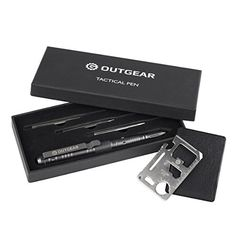 OutGear Tactical Pen with 3 Replaceable Ink  FREE Card Survival Tool Made of AircraftGrade Aluminum Alloy Emergency Survival Pens for Writing Self Defense Glass breaker * Want to know more, click on the image. (Note:Amazon affiliate link)