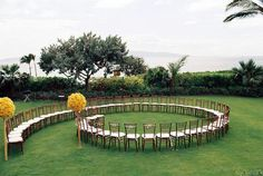 Spiral wedding isle