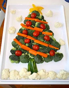 holidays in july Christmas Tree Veggie Tray- I made one last year but must not have pinned it. Don't want to forget to make it though! Christmas Tree Veggie Tray, Christmas Party Food, Christmas Appetizers, Christmas In July, Christmas Goodies, Christmas Baking, Thanksgiving Holiday, Christmas Birthday, Xmas