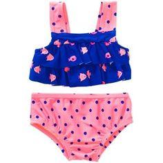 Child of Mine by Carter's Newborn Infant Girls 2 Piece Swimsuit, Online Exclusive - Walmart.com