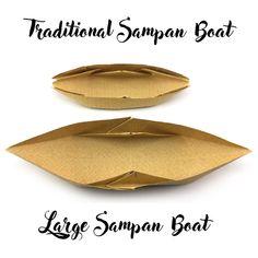 Large origami sampan boat tutorial (Hyo Ahn)