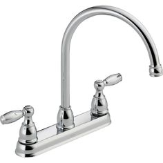 Delta Foundations 2-Handle Standard Kitchen Faucet in Chrome-21987LF - The Home Depot