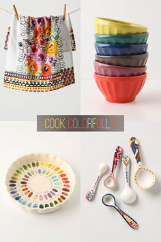 Oh how I love color. The plate in the lower left is especially cute!