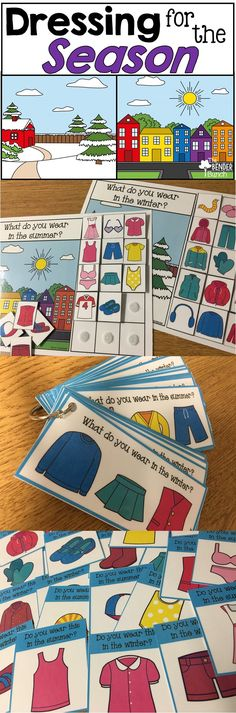 Teach dressing for summer and winter with this fun hands-on set! Life Skills Classroom, Autism Classroom, Special Education Classroom, Preschool Classroom, Classroom Activities, Kindergarten, Creative Curriculum Preschool, Montessori Elementary, Seasons Activities