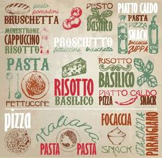 Italian Food Restaurant Topography Logos - http://www.welovesolo.com/italian-food-restaurant-topography-logos/