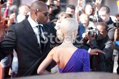 Bodyguard protecting celebrity on red carpet Royalty Free Stock Photo