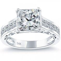 4.33 Carat D-VS1 Certified Princess Cut Diamond Engagement Ring 14k White Gold - Liori Exclusive Engagement Rings - Engagement - Lioridiamonds.com
