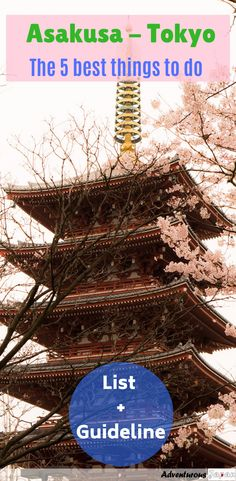 Asakusa, Tokyo, Japan - The 5 best things to do - explore the fun things to do and see - Guide on how to visit - historical and cultural hotspot in Tokyo Japan Travel Guide, Asia Travel, Travel Guides, Thailand Travel, Japanese Travel, Backpacking Asia, Visit Japan, Koh Tao, Travel Couple