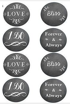 Edible chalkboard circle cupcake or cake toppers