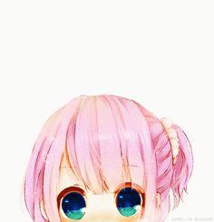 KAWAIIIIIIIIIII hehe blue eyes and pink hair anime girl yup eswdrcftvuhjnihubygvtfrcdxfcgvbh