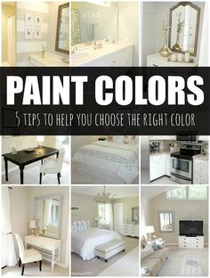 5 tips to help you choose the perfect paint color! Check this out...great tips!
