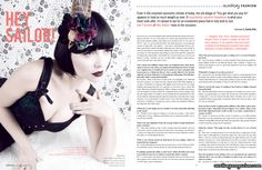 Hey Sailor! designer feature and interview in the February/March 2011 issue of Auxiliary Magazine. Interviewed by Vanity Kills