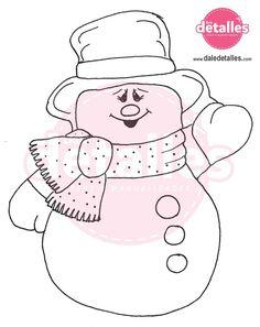 apagador-navideno-con-hombre-de-nieve Felt Christmas Decorations, Easy Christmas Crafts, Simple Christmas, Christmas Holidays, Christmas Ornaments, Christmas Trees, Christmas Icons, Christmas Templates, Bible School Crafts