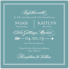 Signature White Wedding Invitations - Ever Arrow by Wedding Paper Divas