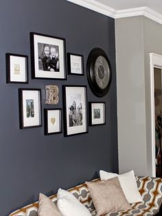Love The Textured Dark Blue Walls In Benjamin Moore