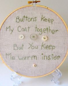 Button Love Hoop