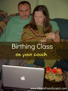 birthing class on your couch... you mean I don't have to leave my house to go the class?