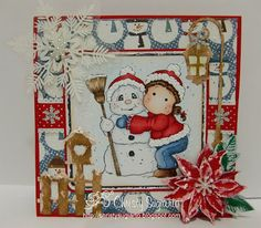 Snowy Hug, Magnolia stamps