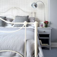 Full Size of Bedroom Black And Grey Bedroom Purple And Grey Bedroom Grey And White Bedroom Pink And Silver Bedroom, Pink And Grey Room, Black And Grey Bedroom, Gray Bedroom Walls, Grey Bedroom Design, Bedroom Carpet, White Bedroom, Bedroom Decor, Bedroom Ideas