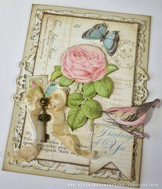 """Designerpapier """"Botanical Tea"""", 30,5 x 30,5cm - Hobby-Crafts24.eu"""