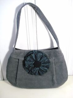 Small Purse Gray Purse Gray Corduroy Purse with by DonnaDesigned, $25.00