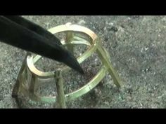 handmade gold ring set emerald - YouTube