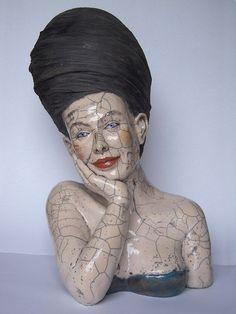 Melanie Bourget on Paris Art Web Sculptures Céramiques, Art Sculpture, Pottery Sculpture, Ceramic Sculptures, Ceramic Figures, Clay Figures, Ceramic Art, Art Parisien, Art Web