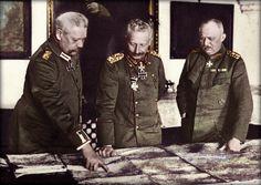 General Headquarters, General Paul von Hindenburg with Kaiser Wilhelm II and General Erich Ludendorff. The First World War, 1914-1918.