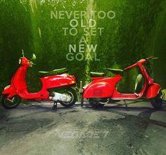 never too #old to set a #new goal . . #vespa #vespagram #vespaindonesia #vespamaniac #vespaforum #vespavita #vespaholic #vespisti #vegadet #scooter #scootagram #scooterforum #scooterhood #scooters #scooterist #scooterlife #indoscooter #vesparider...