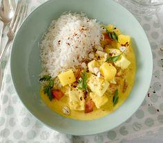 Für ein Curry eignen sich besonders gut festere, eher dicke, weissfleischige Fischfilets wie Seehecht, Seelachs, Dorsch, Pangasius oder Zander.