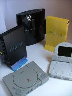 Play Station's 1, 2 and 3. New Play Station 4 will be out in a few months