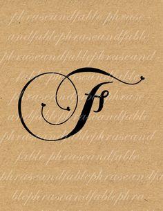 Lettera F Cuore 277 Digital Download Alfabeto iniziale Nome Glyph carattere font Tipografia clipart on Etsy, €1,54