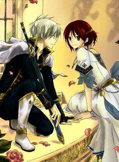 Akagami no Shirayuki-hime - Zen & Shirayuki Snow White With The Red Hair, Bright Red Hair, White Hair, Sword Art Online, Me Me Me Anime, Anime Love, Anime Guys, Anime Snow, Manga Anime