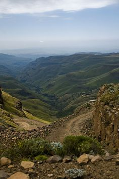 Sani Pass By Marie-Marthe Gagnon Beautiful Places In The World, Beautiful Places To Visit, Oh The Places You'll Go, Dangerous Roads, Namibia, Kwazulu Natal, World Cities, Africa Travel, Pictures To Paint