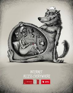 This is a fantastic ad. Totally makes me want their internet service. =)