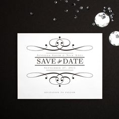 The Old World Save The Date is simple yet elegant design that comes in over 160 different colors.