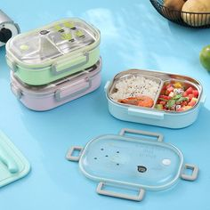 SaicleHome Portable Leak-proof Lunch Box School Office Picnic 304 Stainless Steel Bento Box is fashionable and cheap, come to NewChic to see more trendy SaicleHome Portable Leak-proof Lunch Box School Office Picnic 304 Stainless Steel Bento Box online. Cute Bento Boxes, Bento Box Lunch, Leak Proof Lunch Box, Stainless Steel Bento Box, Lunch Box Containers, Modern Shop, School Office, Travel With Kids, Back To School