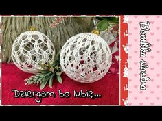 2)Bombka ażurowa siostra 10 cm na szydełku - YouTube Crochet, Christmas Ornaments, Holiday Decor, Youtube, Christmas Jewelry, Ganchillo, Crocheting, Christmas Decorations, Knits