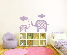 Wandtattoo Namen Kinderzimmer | Wandtattoo Kinderzimmer Elefanten Familie Nr161 Babies